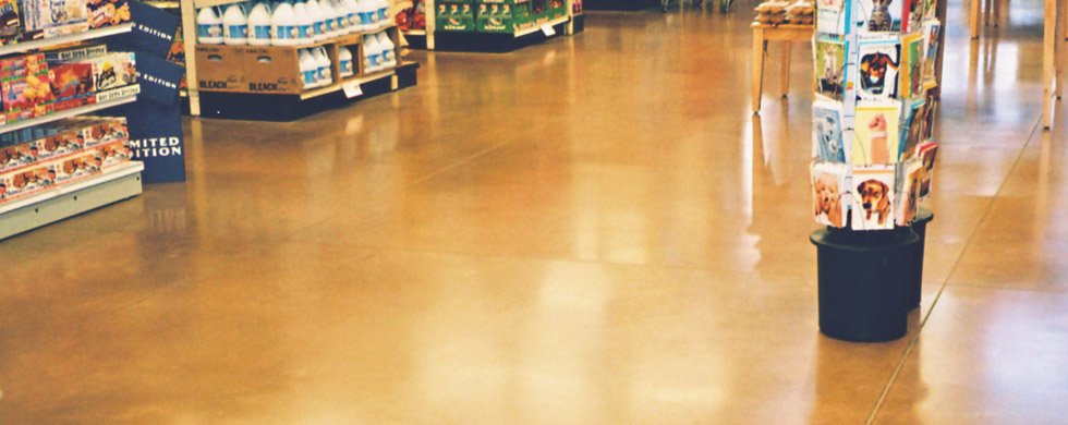 concrete floor color system