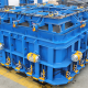 mould-with-vibrator,-hydraulic-clams-and-press