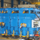 mould-with-vibrator,-hydraulic-clams-and-press1