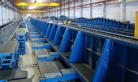 Precast Concrete Forms : Moldtech precast casting beds forms equipment nox