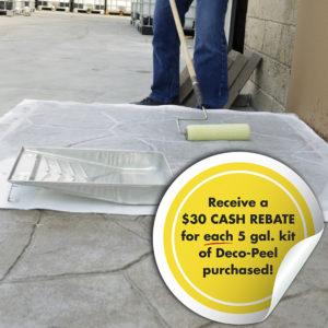 Decorative concrete sealer stripper - Deco-Peel