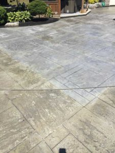 Deco-Strip Results On 5 Layers of Decorative Concrete Sealer