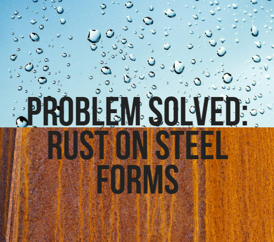 rust on steel forms