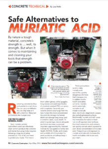 Safe Alternatives to Muriatic Acid pg 1